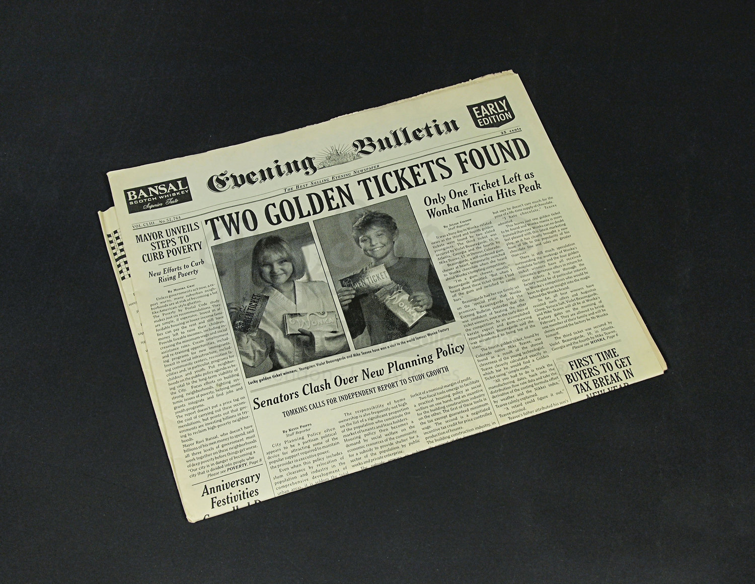 two tickets found prop newspaper prop store ultimate