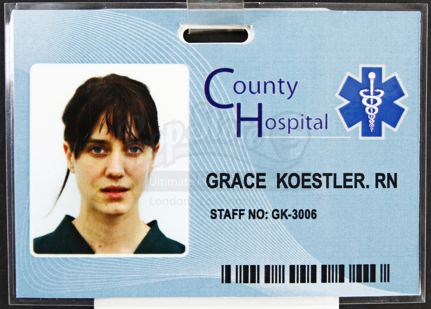 grace koestlers  nadia townsend  hospital badge and access