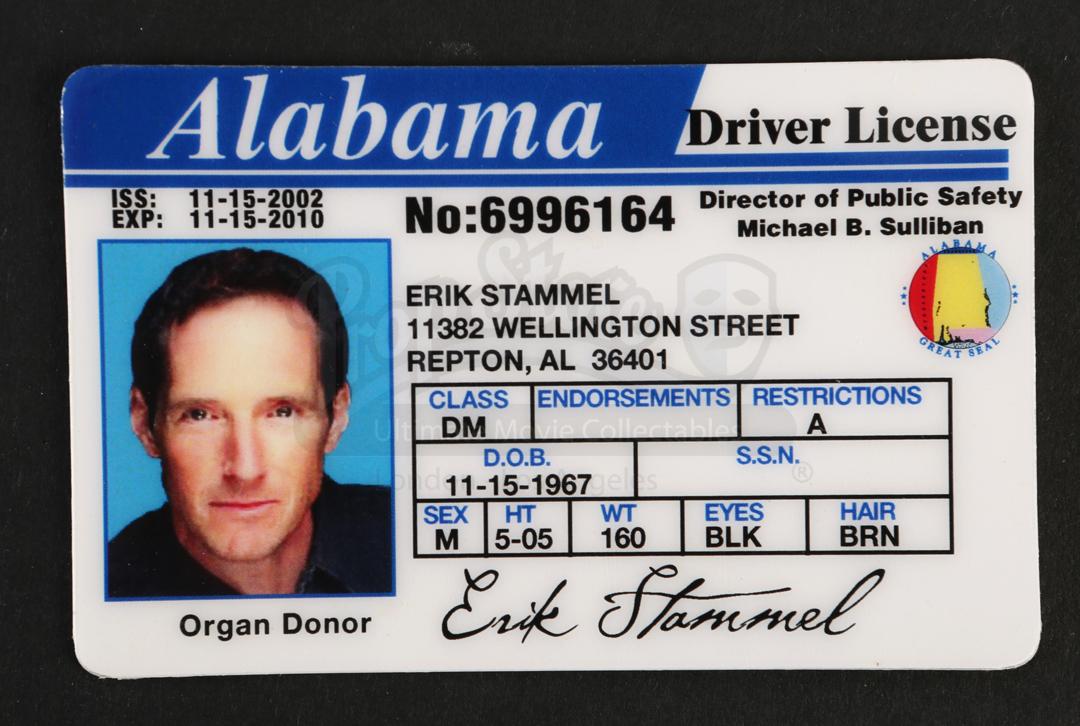 Erik Stammels (Taylor Nichols) Alabama State Drivers ...