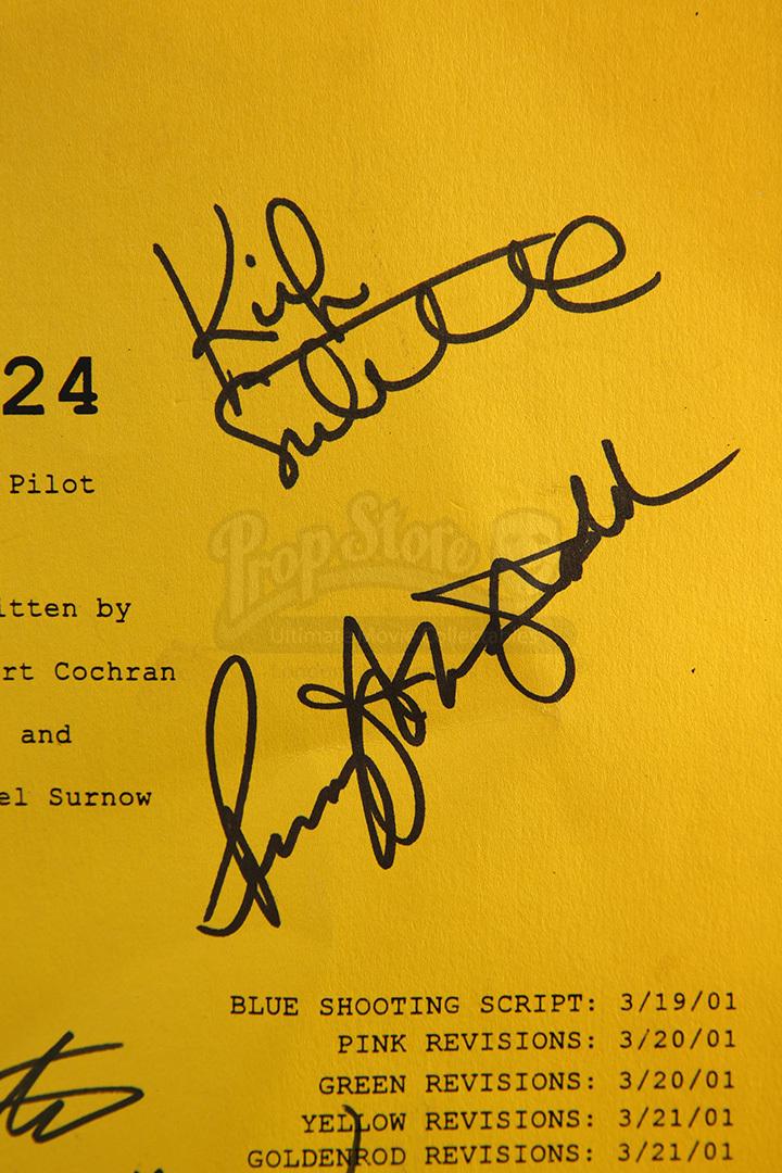 Autographed movie props