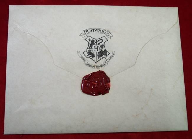 Hogwarts Acceptance Envelope With Warner Bros Letter