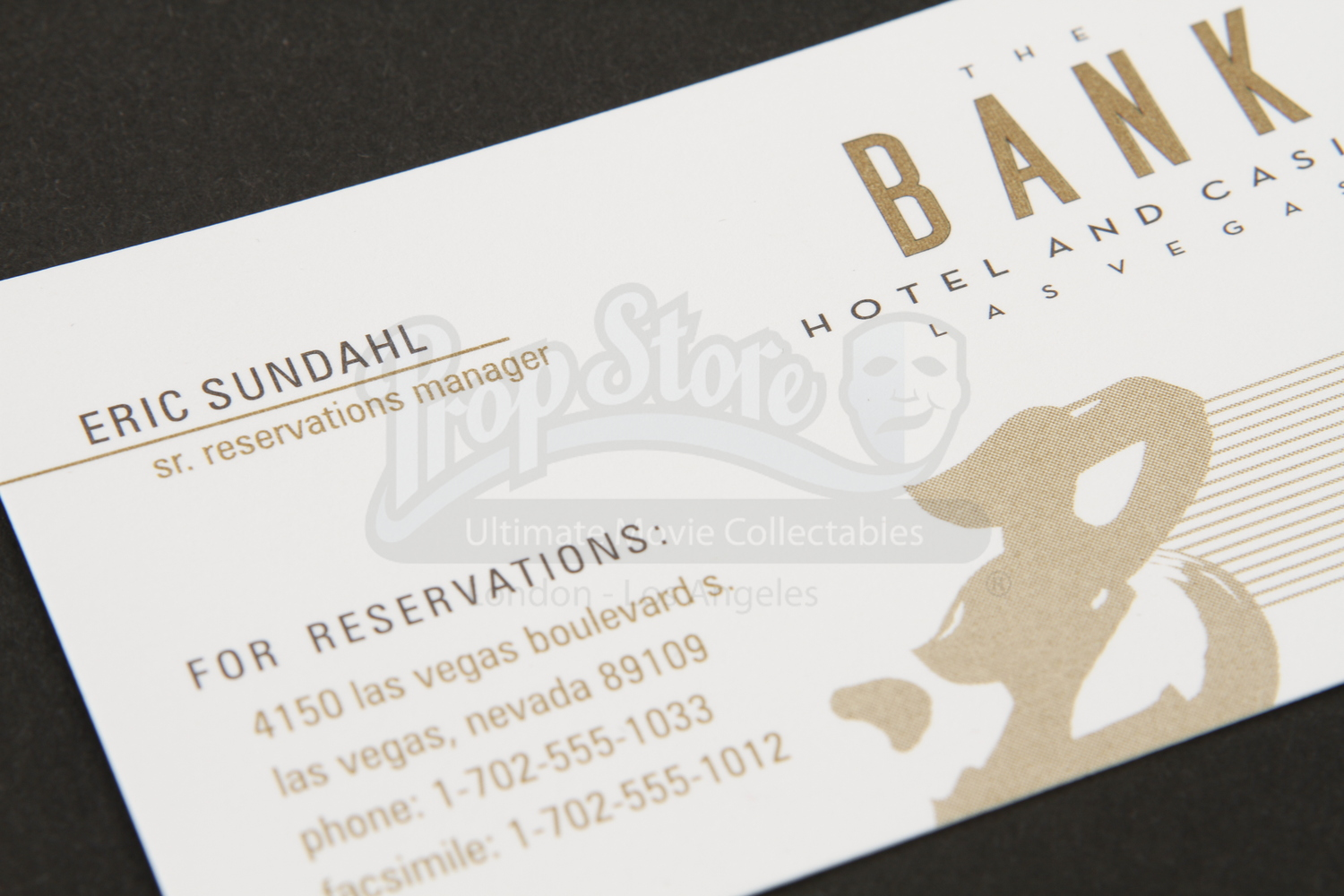 Bank Hotel And Casino Sr. Reservations Manager Business Card ...
