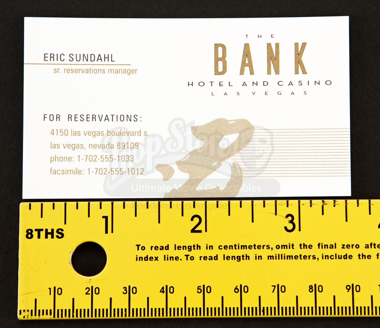 Bank Hotel And Casino Concierge Business Card | Prop Store ...