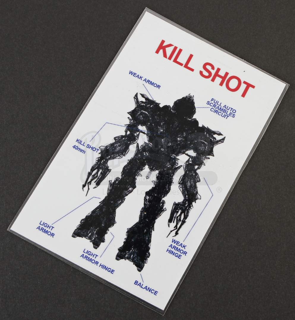 navy seal kill shot reference card prop store ultimate
