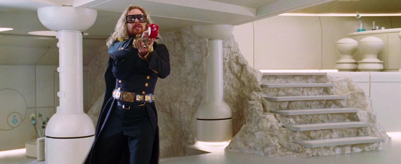 president zaphod beeblebrox  sam rockwell  gun