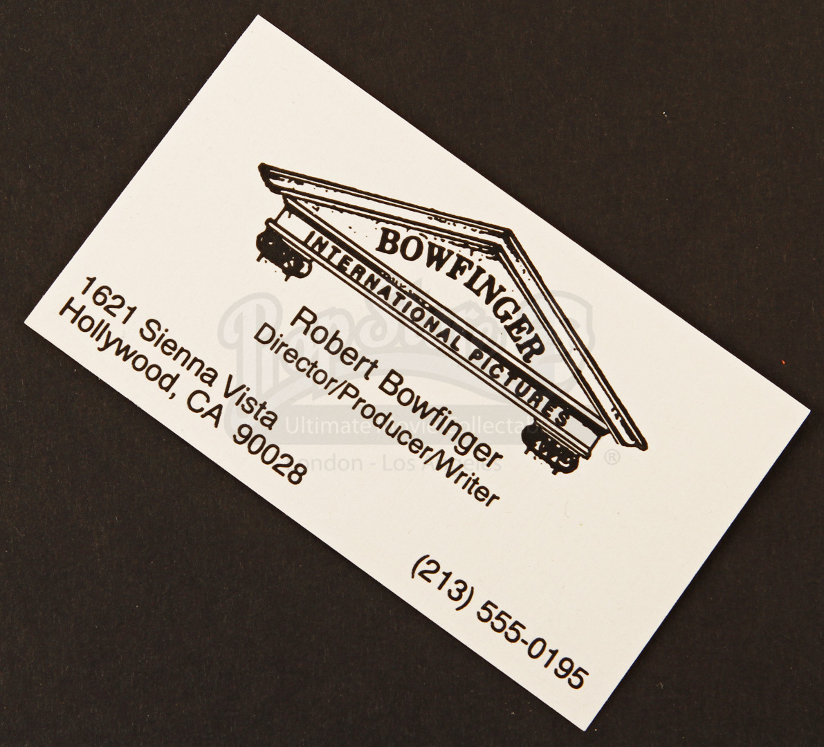 Bobby Bowfingers (Steve Martin) Business Card | Prop Store ...