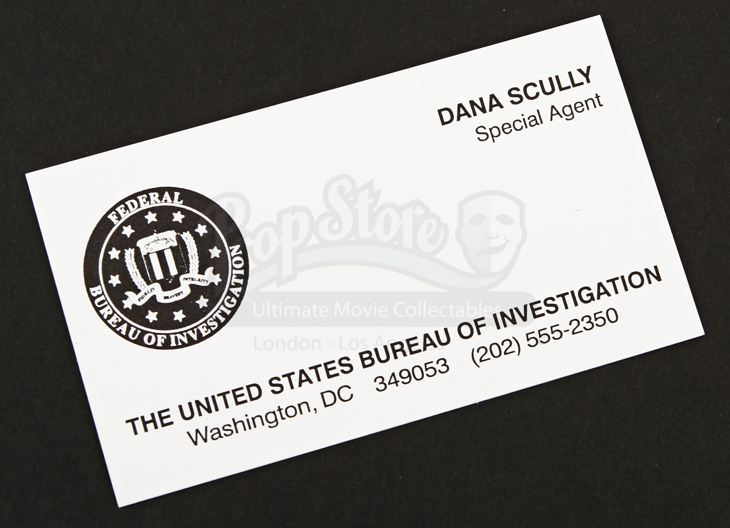 Prop store ultimate movie collectables x files the special agent dana scullys fbi business card reheart Image collections