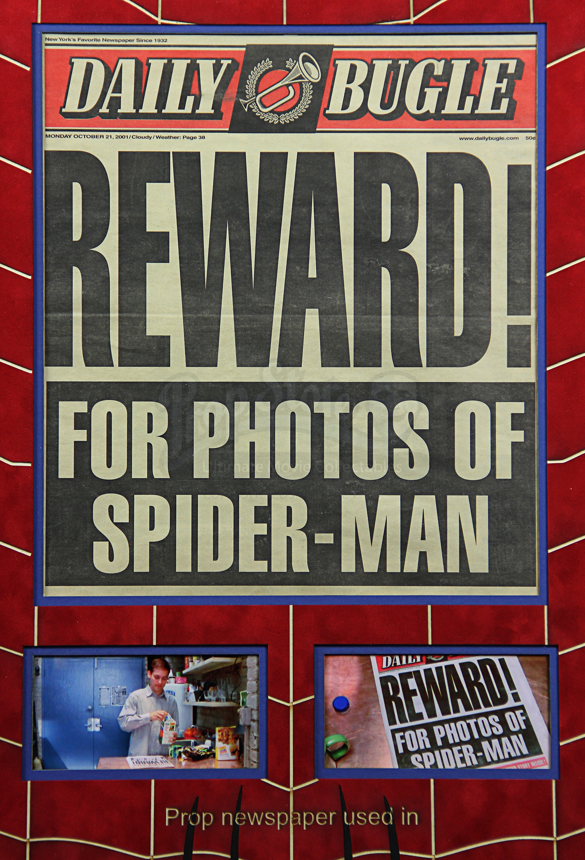 Daily Bugle Reward Newspaper Front Page Display | Prop ...