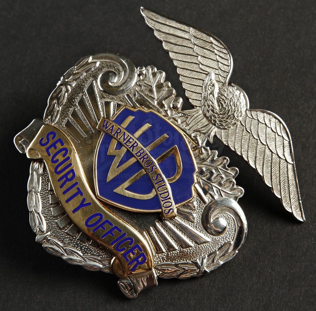 Warner Bros Security Hat Badge Prop Store Ultimate