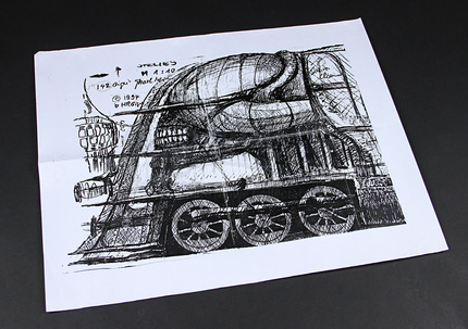 HR Giger Ghost Train Dream Design Copy | Prop Store - Ultimate ...