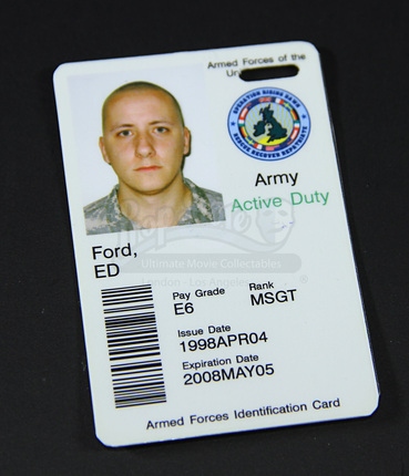- Army Us Store Prop Movie Ultimate Collectables Id Card