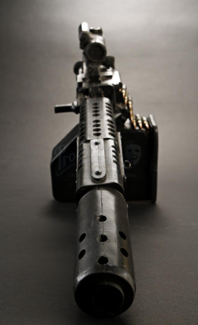 eddies lester speight custom m249 saw paratrooper stunt