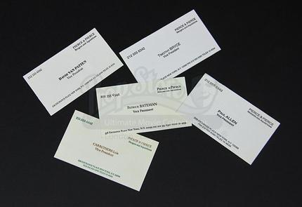 12 live auction 2015 set of prop pierce pierce business cards 12 live auction 2015 set of prop pierce pierce business cards prop store ultimate movie collectables reheart Gallery