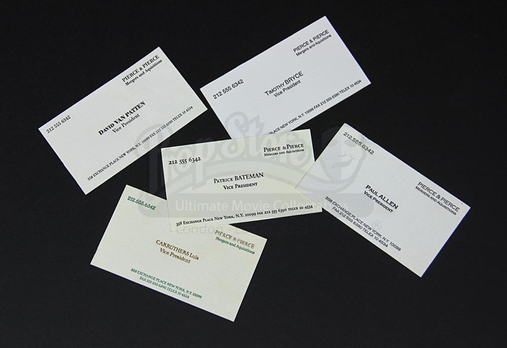 12 - Live Auction 2015 - Set of Prop Pierce Pierce Business Cards ...