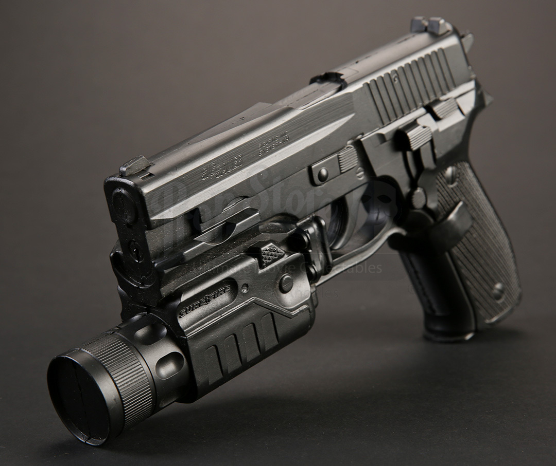Stunt Sig Sauer P226 with Surefire Flashlight | Prop Store ...