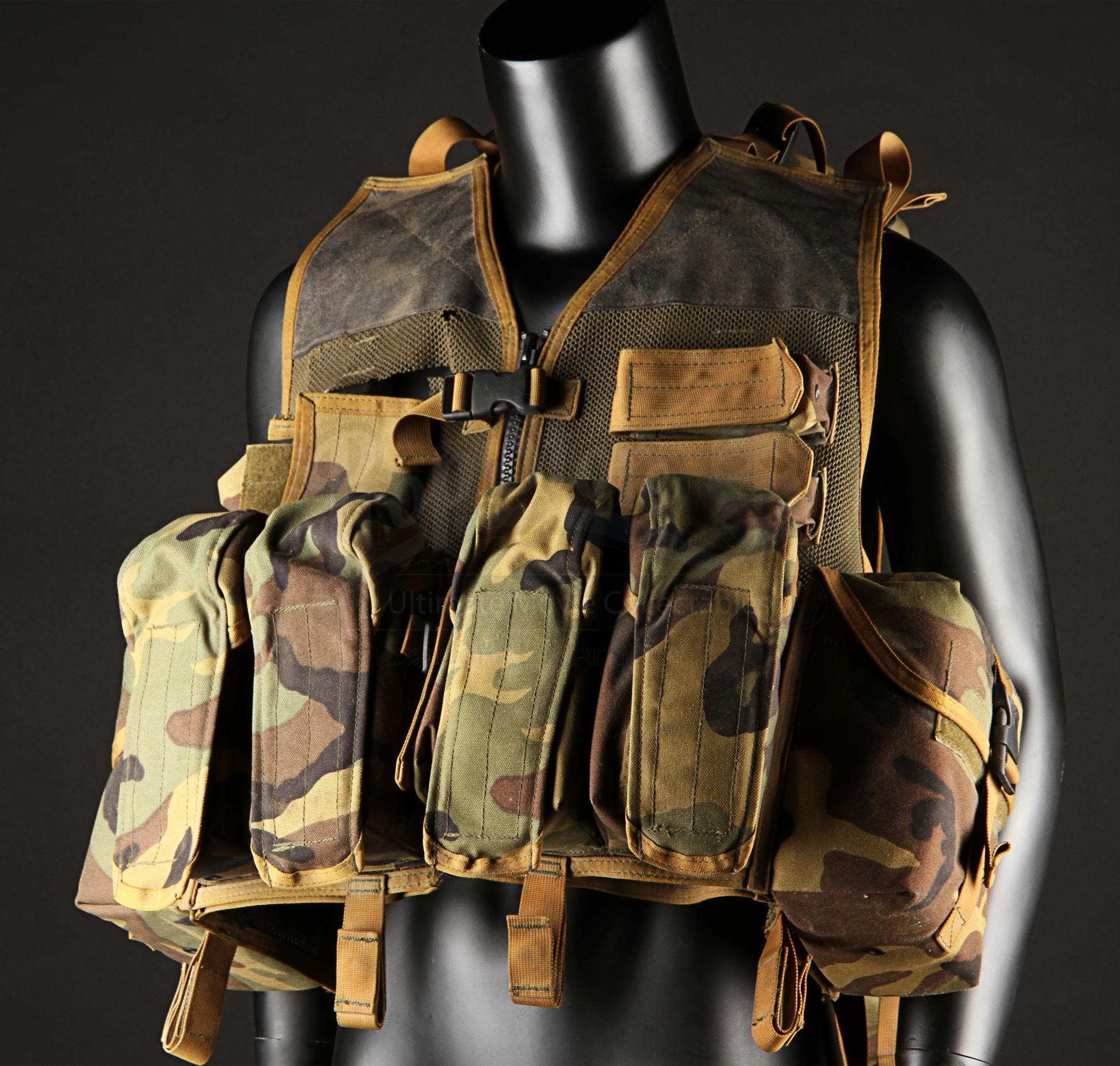 Blood Diamond. Coetzee Mercenary Tactical Vest. Stock # 59117