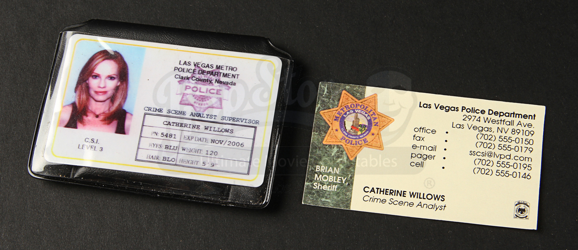 Helgenberger Prop Willows Id Card - marg Movie Store Catherine Collectables Ultimate Business