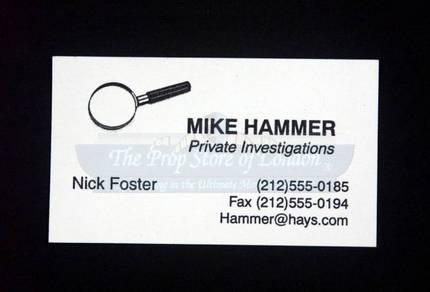 Mike hammer private investigations business card prop store mike hammer private investigations business card prop store ultimate movie collectables colourmoves