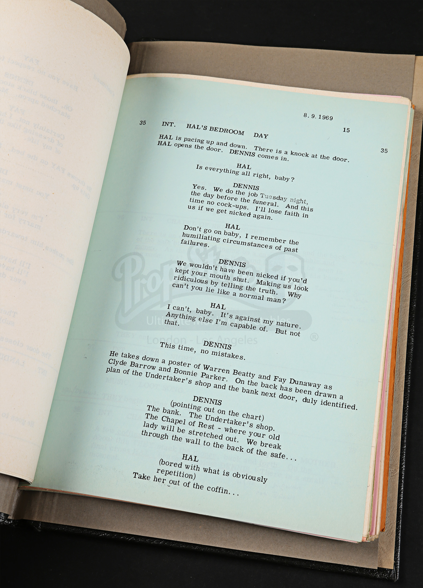 script with written notes