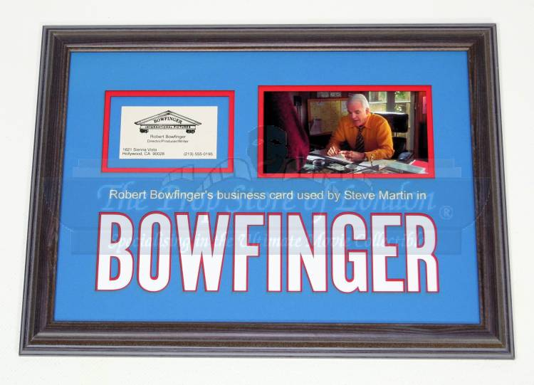 Prop store ultimate movie collectables bobby bowfinger steve martin business card stock 9655 colourmoves