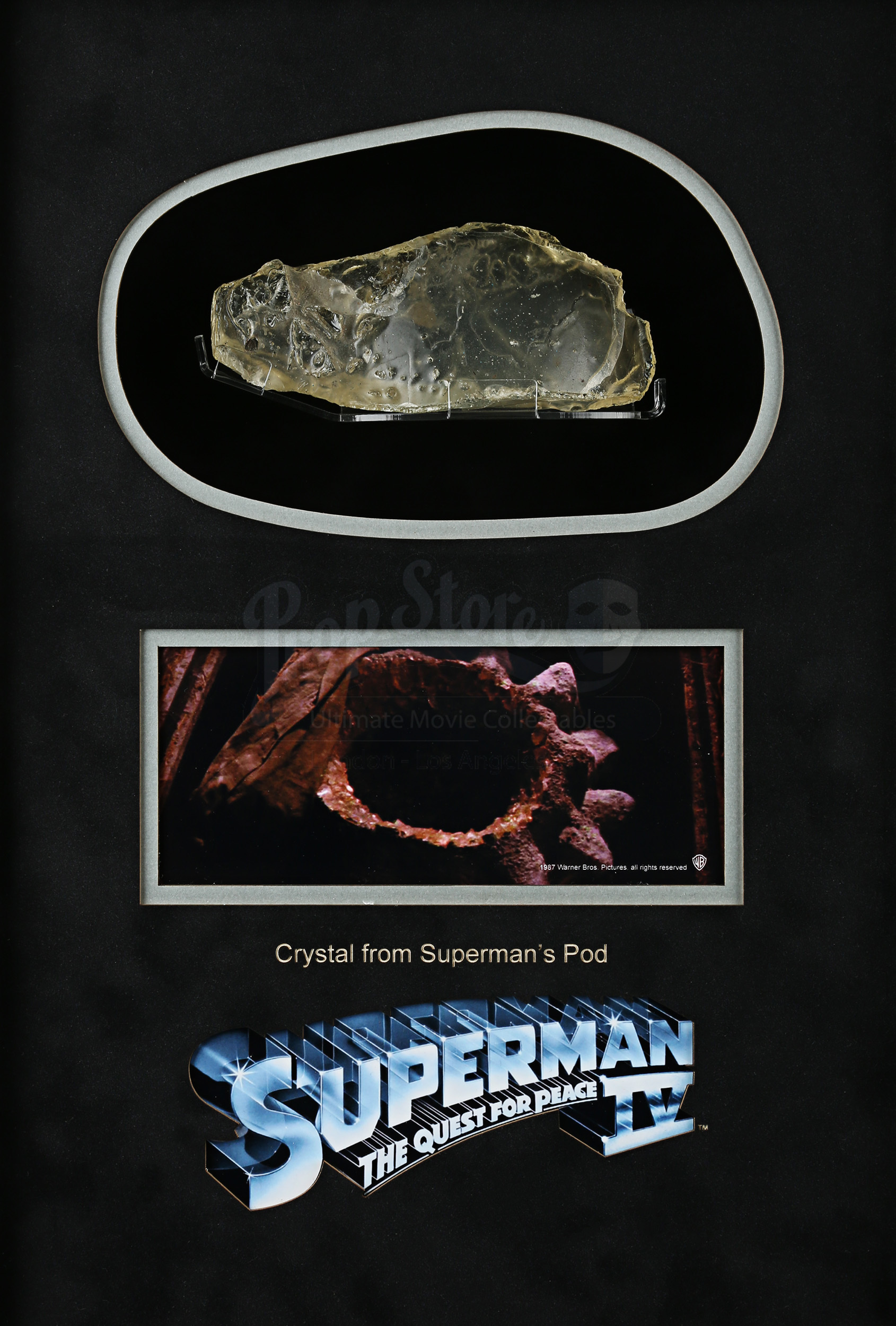 Rent A Pod >> Supermans (Christopher Reeve) Pod Crystal Piece Display   Prop Store - Ultimate Movie Collectables