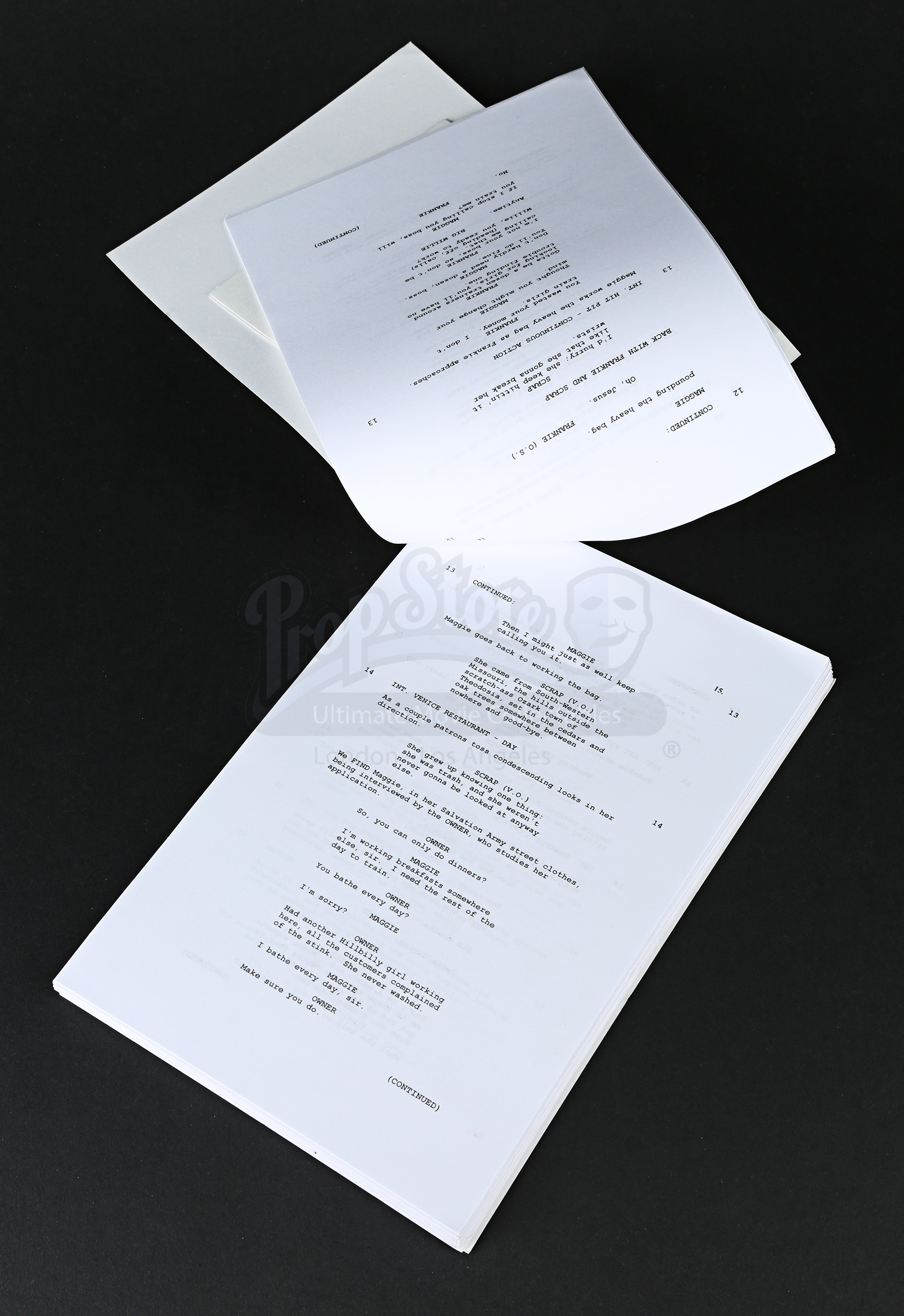 Awards Season Consideration Script And Letter Prop Store