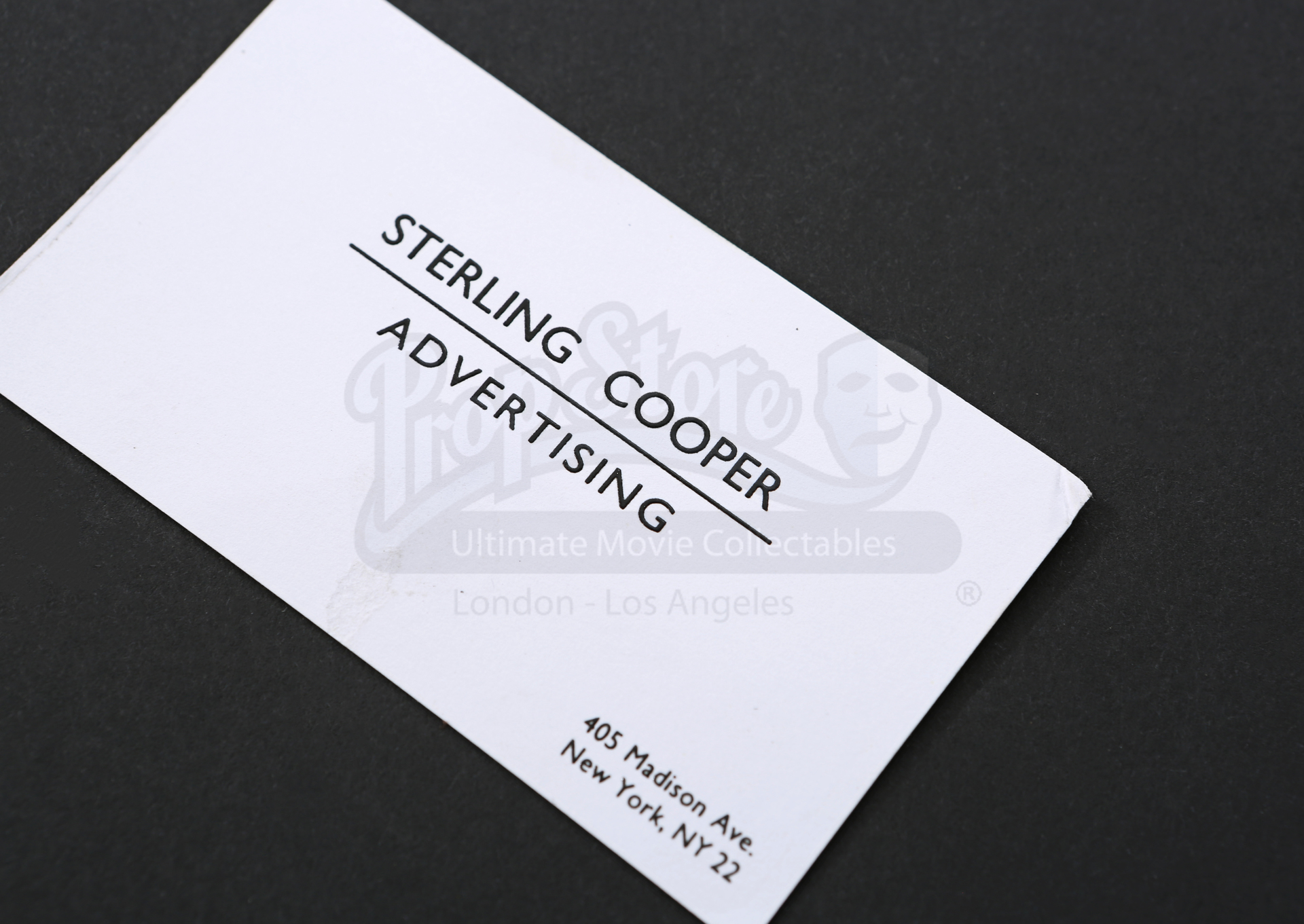 Sterling Cooper Business Card Prop Store Ultimate Movie Collectables