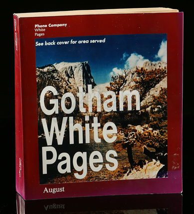 Production-Made Gotham City White Pages | Prop Store