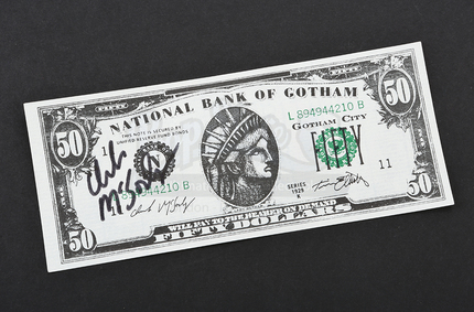 Signed Bank of Gotham Note - 50 | Prop Store - Ultimate Movie