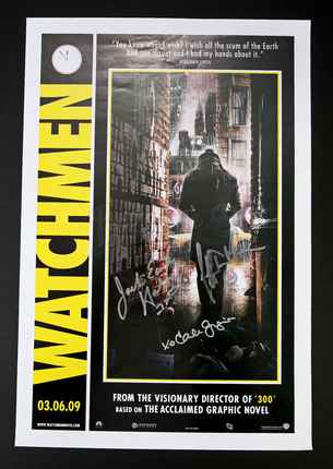 autographed rorschach poster prop store ultimate movie collectables