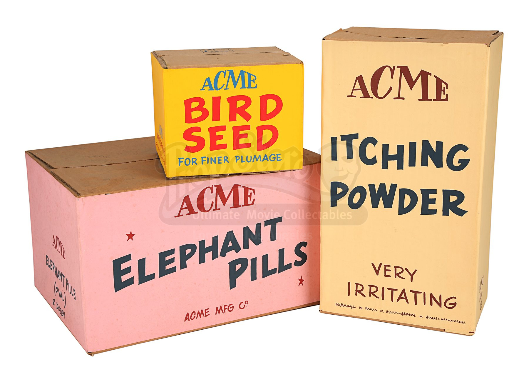 acme roger rabbit framed itching powder bird elephant seed boxes collectables prop ultimate