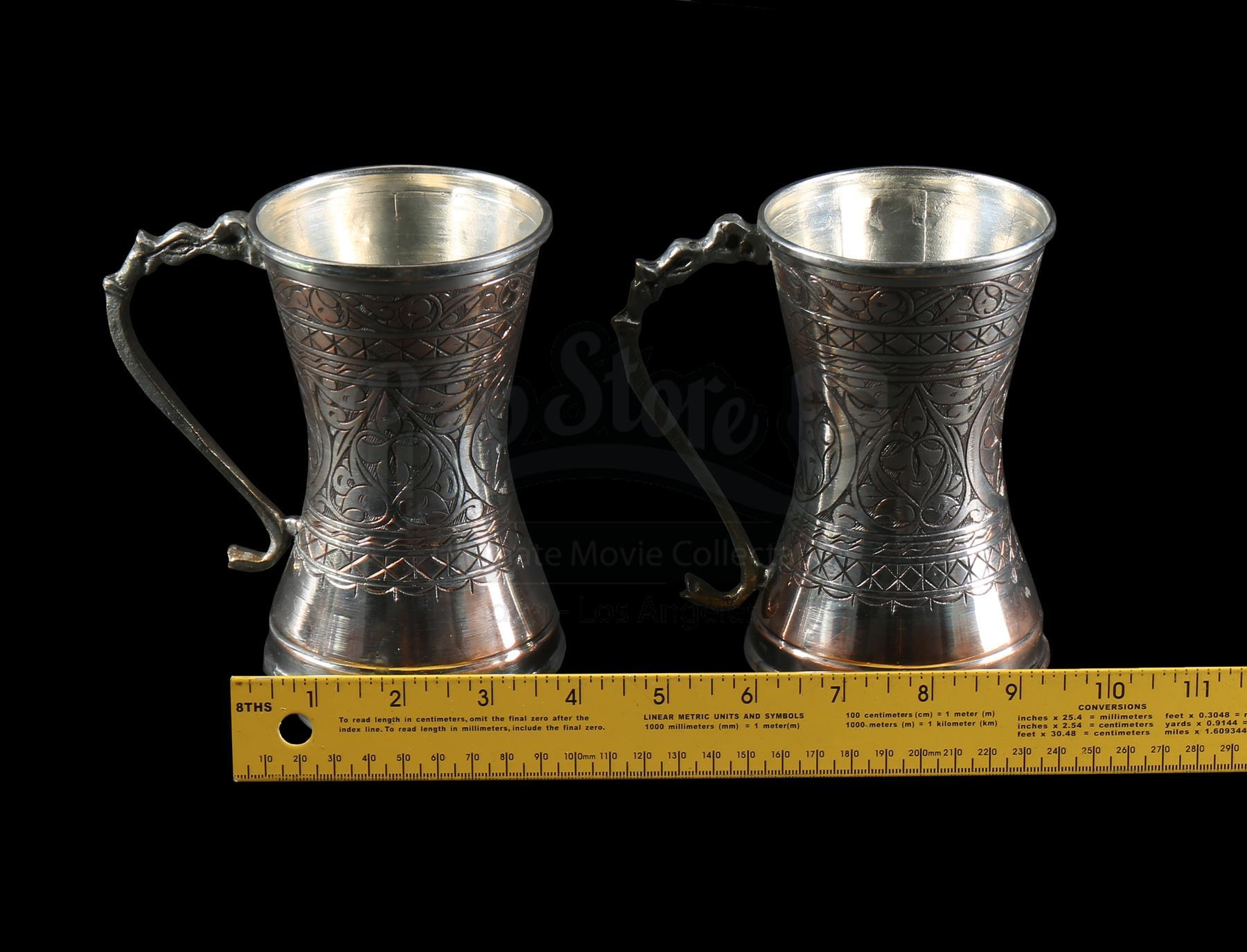Lot 311 Two Silver Plated Mugs | Prop Store - Ultimate Movie