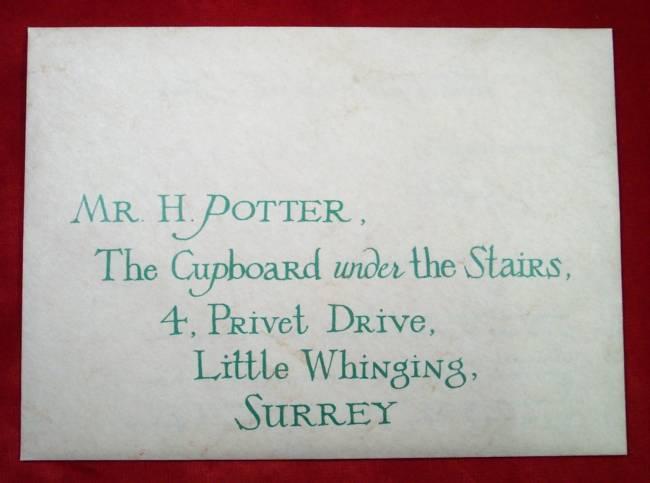 Hogwarts Acceptance Envelope With Warner Bros Letter | Prop Store