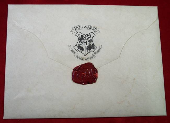 Hogwarts Acceptance Envelope With Warner Bros Letter