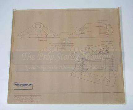 Production used blueprint copy of floating snow speeder prop production used blueprint copy of floating snow speeder prop store ultimate movie collectables malvernweather Image collections