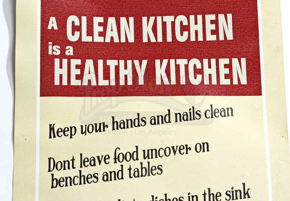 Large Clean Kitchen Poster